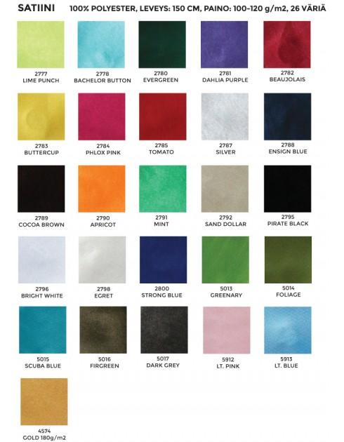 Asustesatiini (26 väriä)